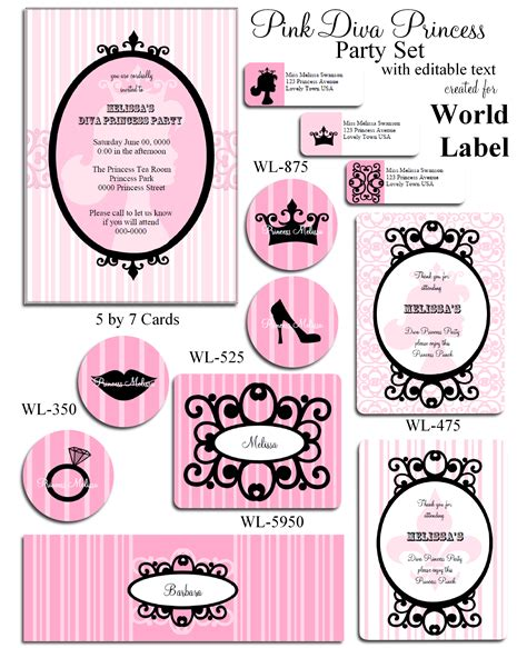 birthday labels template free printable labels templates label design