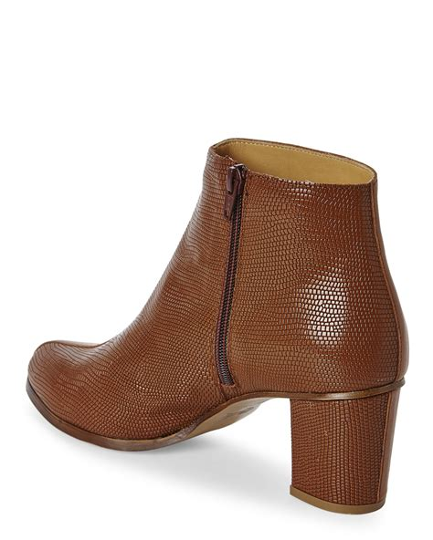 mm6 by maison martin margiela cognac ankle boots in brown