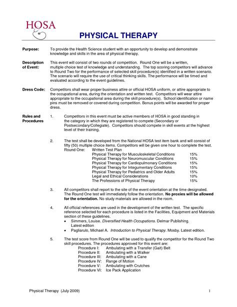 physical therapist resume objective samples rimouskois job resumes
