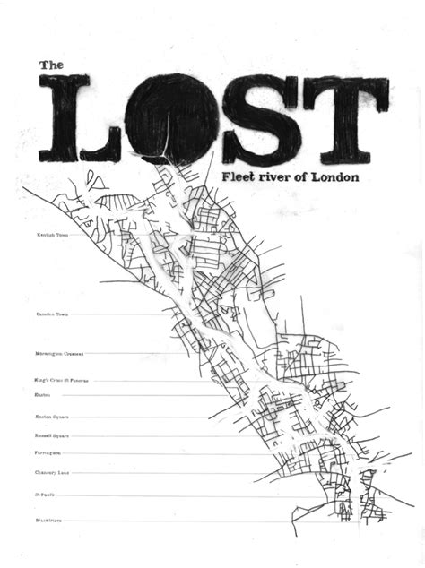 londons hidden rivers a 0711235546 hand drawn maps the river fleet londonist