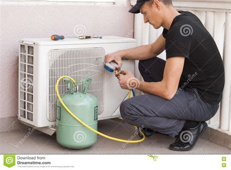 air conditioner freon refill freon air conditioner refill stock photo image 71333016