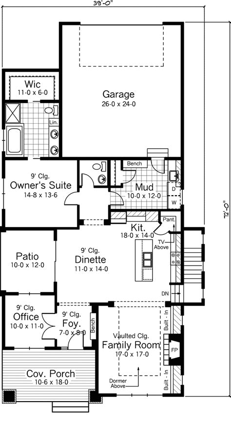 arts and crafts homes floor plans bellewood arts and crafts home plan 091d 0479 house