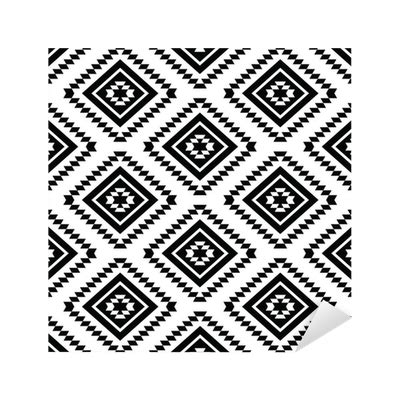 changing pattern of tribal livelihoods tribal seamless pattern aztec black and white background