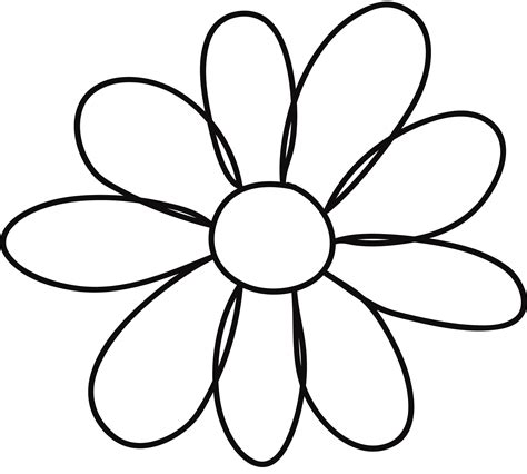 Template Of A Flower by 10 Petal Flower Template Clipart Best Clipart Best