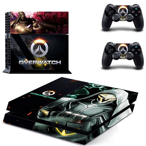 Amazon Wall Sticker overwatch ps4 skin decal for console and 2 controllers