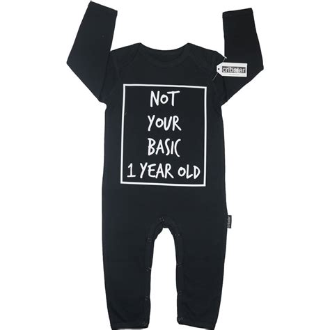 Romper Baby Not Your Basic not your basic 1 year baby romper cribstar