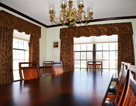 Houzz Dining Room Window Coverings Farmhouse Window Treatments Traditional Dining Room
