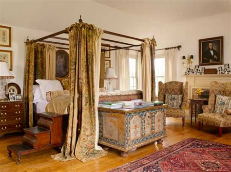 colonial revival bedrooms with an world look
