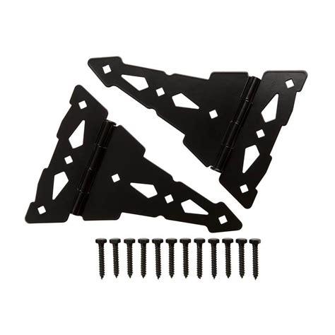 everbilt 8 in black heavy duty decorative strap hinges 2 everbilt 8 in black heavy duty decorative tee hinge 2