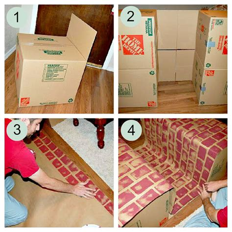 How To Make A Cardboard Fireplace For by Faux Fireplace How To Make A Fireplace With Cardboard