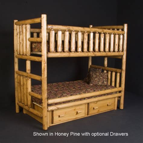 Pine Log Bunk Beds Viking Northwoods Log Daybed With Trundle