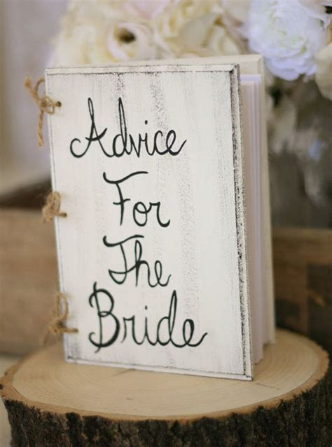 bridal shower guest book shabby chic wedding decor