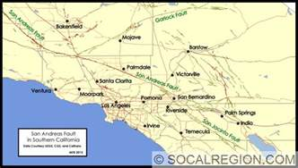 map of san andreas fault in southern california san andreas fault in southern california southern