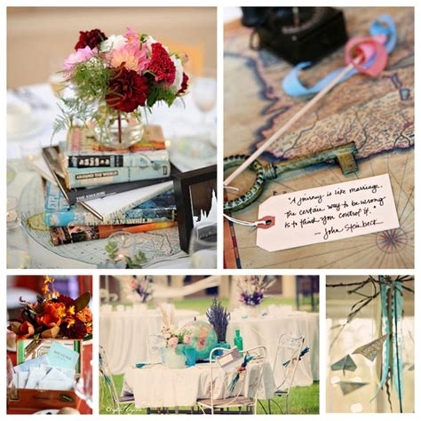 travel theme decor travel inspired wedding details
