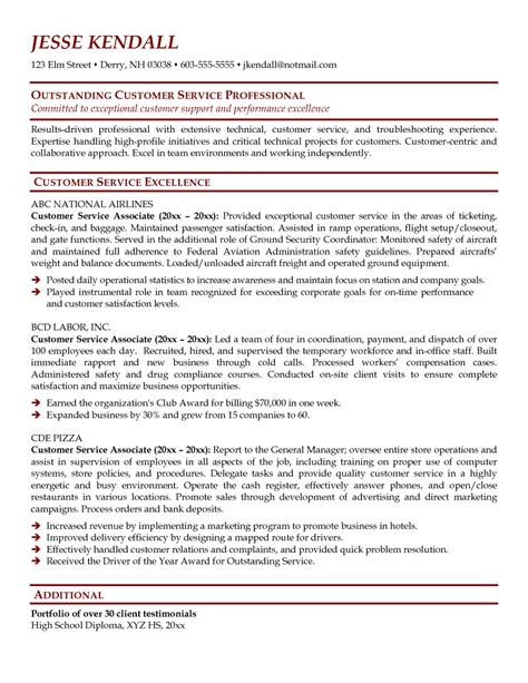 customer service associate job description resume sle