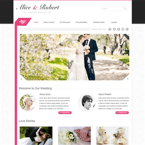 Download Premium Web Templates Joomla Wordpress Drupal Html5 Flash Vt Wedding Template For Joomla Wedding Template