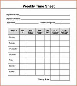 weekly time sheets template 5 weekly timesheet template budget template letter