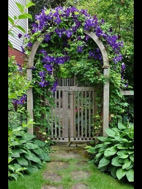 garden gate and landscaping for the home garden