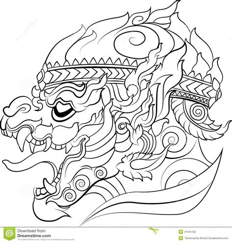 hanuman new thai art style vector stock vector
