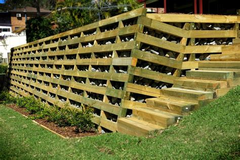 Crib Retaining Walls by Timber Crib Novascape Landscaping