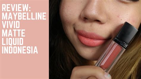 Lipstick Maybelline Indonesia maybelline velvet matte liquid lipstick review the