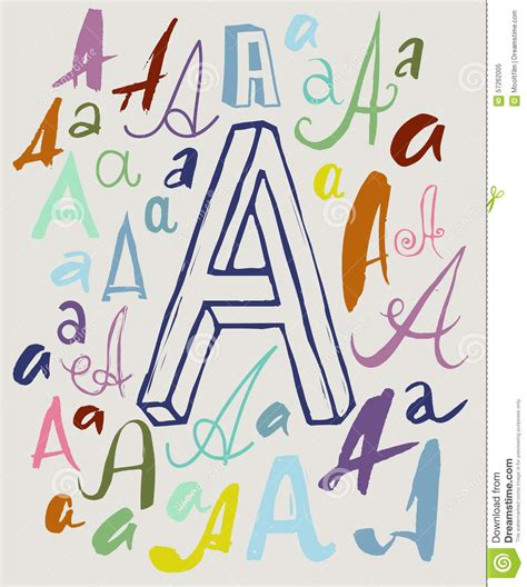 Letter Different Styles letter a in different styles stock vector image 57262005
