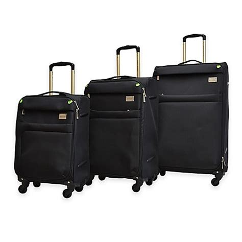 bed bath beyond luggage buy adrienne vittadini 3 piece nylon luggage set in black