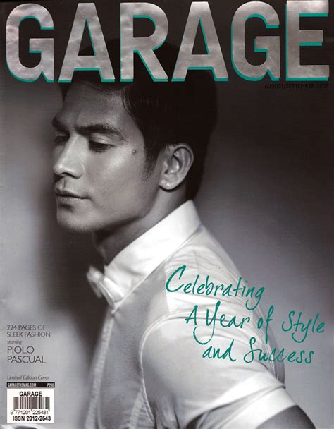 Garage Magazine by Piolo Pascual For Garage Magazine