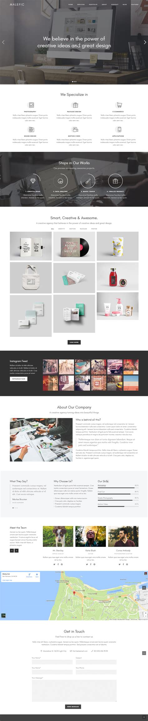 theme wordpress one page responsive fast seo optimized wordpress themes wordpress themes