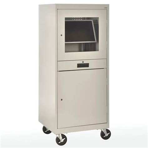 Computer Cabinet With Lock by Sandusky Mobile Computer Security Cabinet Jg2663