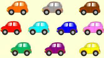 learn color cartoons children coloured cars 聪明的孩子创建具有彩色形状 abc 123