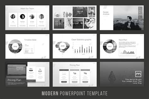 modern powerpoint presentation templates modern powerpoint template by brandea design bundles