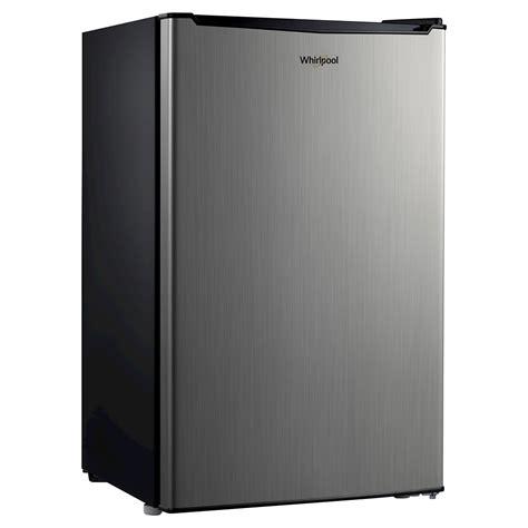 whirlpool 4 3 cu ft compact dorm room office rv bedroom whirlpool 4 3cu ft mini refrigerator stainless steel