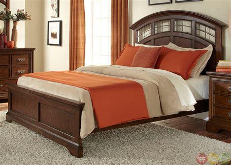 Transitional Bedroom Sets by Parkwood Transitional Cognac Panel Bedroom Set