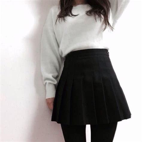 Asian Kitchen Knives skirt pale grunge tumblr kawaii black wheretoget