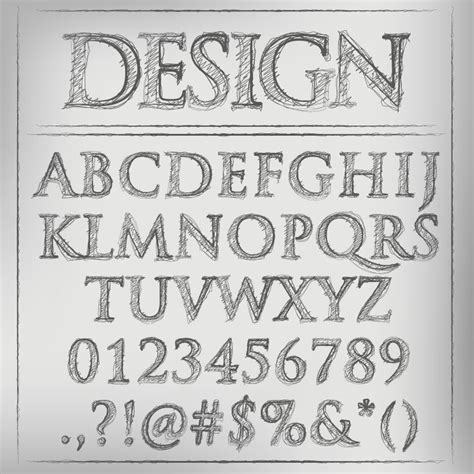vectorial design font pen font design vector free vector graphic download