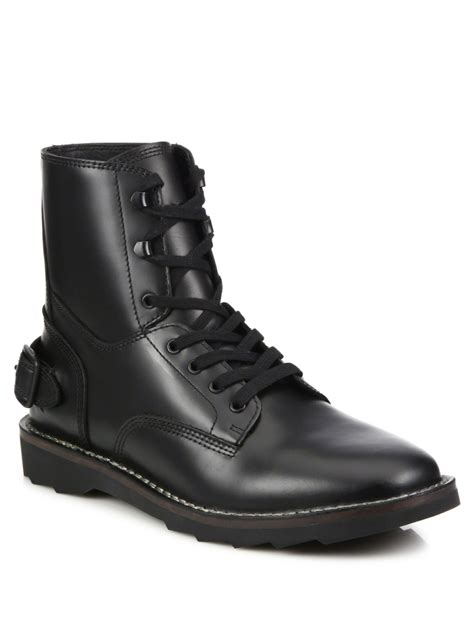 coach boots mens coach 1941 combat boots in black for lyst