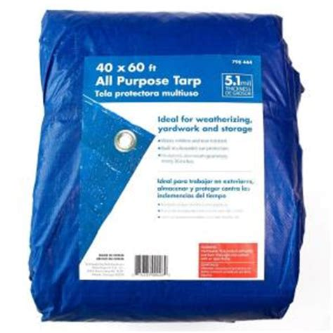 hdx 40 ft x 60 ft general purpose blue tarp bp4060 the