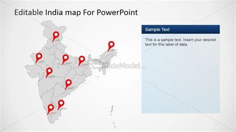 6277 02 India Map 3 Slidemodel India Map Ppt Template