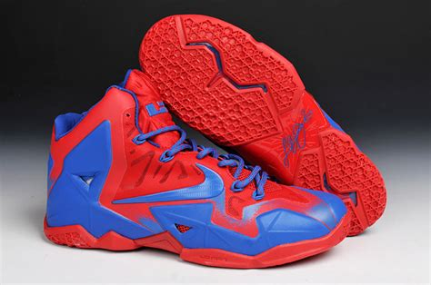 and blue basketball shoes and blue lebrons lebron 11 superman basketball shoes