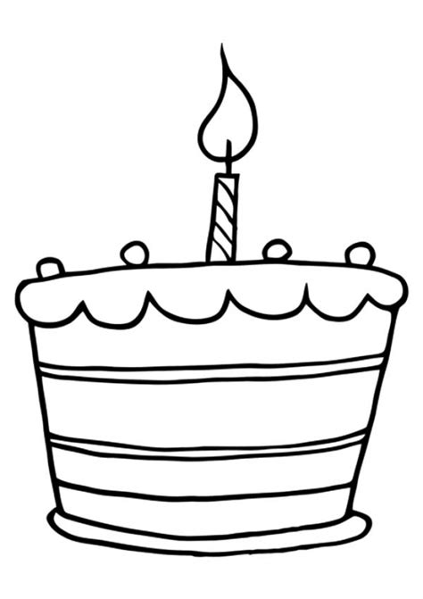 coloring happy birthday cakes candles pages get this online birthday cake coloring pages 88275