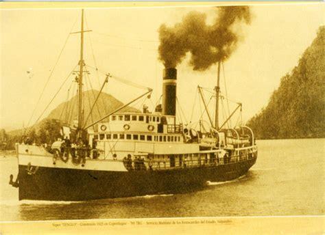 barco de vapor y ferrocarril locomotora s 250 per monta 241 a memorias del siglo xx chile
