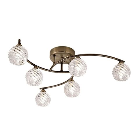 bronze semi flush ceiling light franklite vortex 6 light semi flush ceiling fitting in