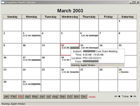 Calendar 6 Months From Today Novell Documentation Groupwise 6 5 Using The Webaccess