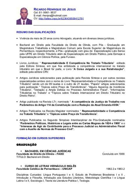 Modelo De Curriculum 2014 España Curriculo