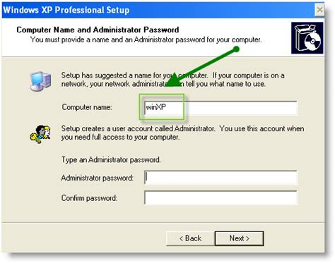 reset password windows xp virtual machine administrator password xp mode