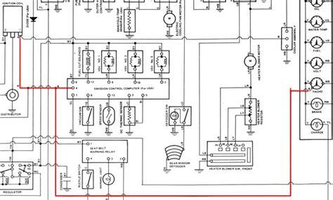 1980 toyota tachometer wiring diagram free