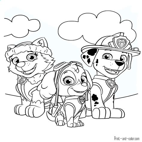 imajene de dibujo dibujos de la patrulla canina para pintar y colorear prar