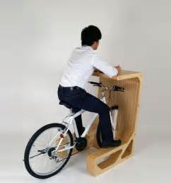 Desk Bicycle Park Your Bicycle Indoors And Enjoy Its Chair Function