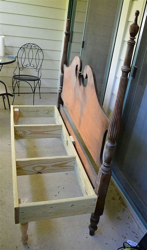 bed headboard bench best 25 bed frame bench ideas on pinterest headboard redo refinished headboard and